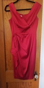Maggy London Red Cocktail Dress